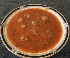 Meatball Cous Cous Soup