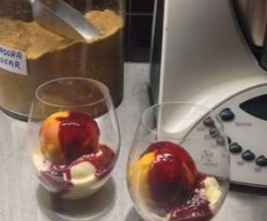 Thermomix Peach Melba