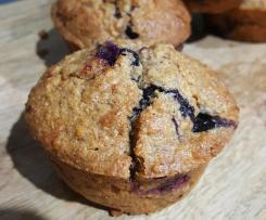 Moist Blueberry, Apple & Coconut Dairy Free Muffins