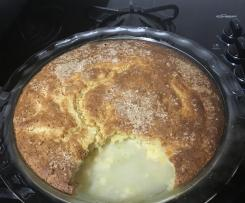 Lime self saucing pudding