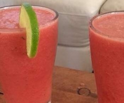 Watermelon, lime and mint frappe