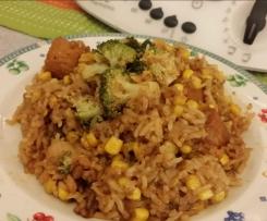 Black Pepper Sweet Corn Cheesy Rice