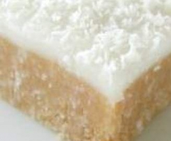 No Bake Lemon Coconut Slice