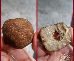 Raw vegan jam donut balls