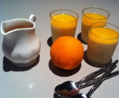 Frozen Orange Pots with Orange Syrup