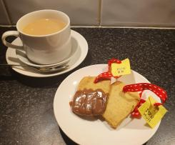 Teabag tea biscuits