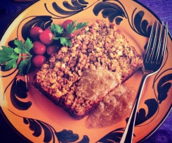 Festive lentil and nut roast