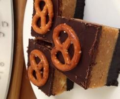 Choc-Pretzel & Peanut Butter Slice