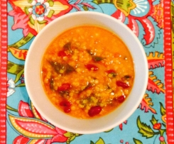 Hearty Tomato, Spinach & Two Pulses Soup