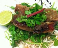 Spicy Rhubarb Pork Spare Ribs