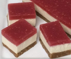 Red & White Jelly Slice (healthy version)