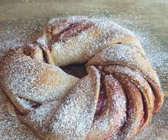 Donna Hays Raspberry sweet bread wreath