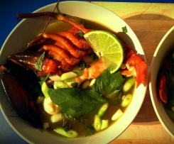 Steamed Seafood with Thai Broth