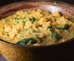 Red Lentil, Chickpea & Coriander Dahl (adapted from Woolworths Magazine)