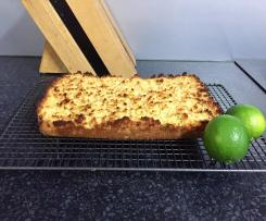 Quick Lime and Coconut Slice, Gluten Free and Diary Free