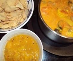 Fragrant Vegetable Curry with Mango Chutney