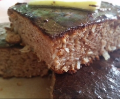 Coconut vanilla breakfast protein slice