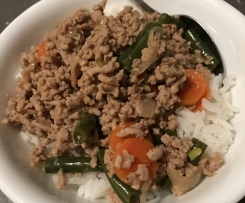 Szechuan Pork and Veggie Stirfry