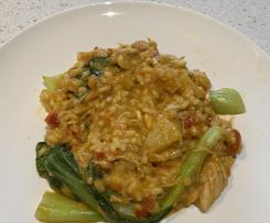 Thai chicken curry risotto