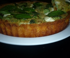 ROASTED VEGETABLE AND YOGHURT CHEESE QUICHE