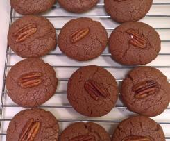 Gluten Free Nutella and Peacan Biscuits
