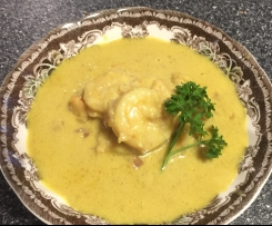 Creamy Coconut Curried Prawns LCHF