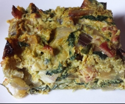 Silverbeet & Bacon Quiche