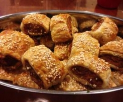 Sally's Special Sausage Rolls with added Tomato Sauce