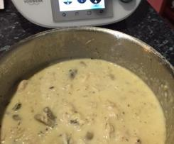 Chicken in Cream mushroom sauce