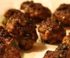 Lamb haloumi meatballs