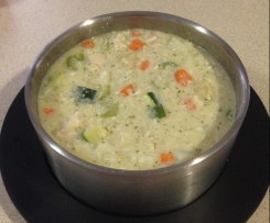 Creamy Chicken and Vegetable Soup (dairy free, nut free)