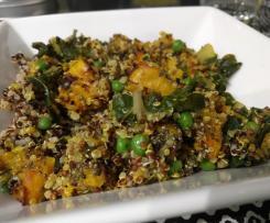 Spicy pumpkin and pea quinoa
