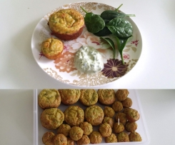 Quick & Tasty Cheese, Pumpkin, Baby Spinach and Bacon Muffins - One bowl