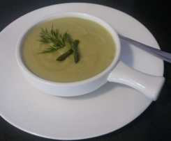 Creamy Asparagus & Cauliflower Soup