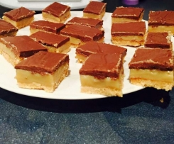 Biscuit base caramel slice