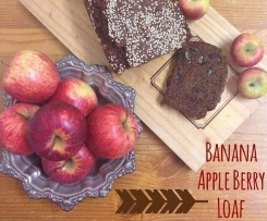 Banana Apple Berry Loaf (Egg Free)