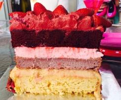60 Second Strawberry Cake