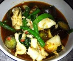 Thai Squid curry soup