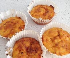 Pumpkin & Carrot Cheesy Muffins