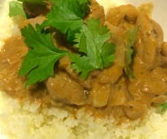 Butter Chicken with Cauliflower Rice-Pete Evans converted recipe