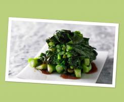 Steamed Asian greens with a Honey, Soy and ginger sauce