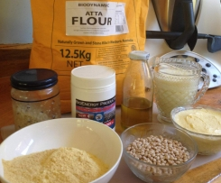 Lupin Flour and Atta Flour Bread