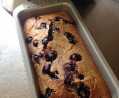 Banana Blueberry Bread (Gluten/Lactose/refined Sugar Free)