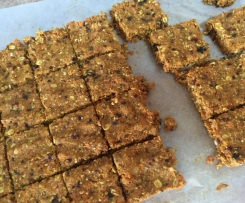 Healthy no bake carrot slice