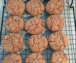 Chocolate peanut butter biscuits