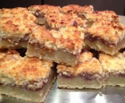 Old fashioned favourite - Jam and coconut slice