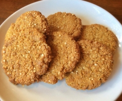 Quinoa and Lemon Anzac Biscuits