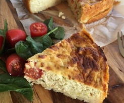 Savoury Chicken Cheesecake with a Hashbrown Crust