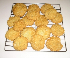 Wheat and fructose free ANZAC biscuits