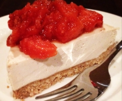 Cashew Cream Pie with Poached Quince